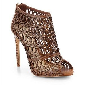 Alexandre Birman NEW Python Cut-Out Cage Shoes 🔥